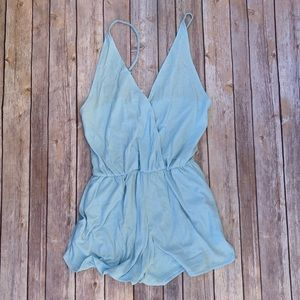 Baby Blue Romper from PINK VS